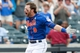 Jun 16, 2013; Flushing, NY,USA;  New York Mets center fielder Kirk Nieuwenhuis (9) celebrates his three run walk off home run during the ninth inning against the Chicago Cubs at Citi Field.  Mets won 4-3.  Mandatory Credit: Anthony Gruppuso-USA TODAY Sports