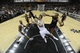 Jun 16, 2013; San Antonio, TX, USA; San Antonio Spurs center Tiago Splitter (22) lays the ball up past Miami Heat small forward Shane Battier (31) during the fourth quarter of game five in the 2013 NBA Finals at the AT&T Center. Mandatory Credit: Brendan Maloney-USA TODAY Sports