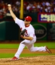 Jun 17, 2013; St. Louis, MO, USA; St. Louis Cardinals relief pitcher Trevor Rosenthal (26) delivers a pitch against the Chicago Cubs at Busch Stadium. Mandatory Credit: Scott Rovak-USA TODAY Sports