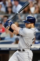 Jun 21, 2013; Bronx, NY, USA;  Tampa Bay Rays designated hitter Luke Scott (30) singles to right allowing a runner to score during the fourth inning against the New York Yankees at Yankee Stadium.  Mandatory Credit: Anthony Gruppuso-USA TODAY Sports