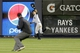 Jun 21, 2013; Bronx, NY, USA;  New York Yankees right fielder Ichiro Suzuki (31) fields a ball during the eighth inning against the Tampa Bay Rays at Yankee Stadium.  Yankees won 6-2.  Mandatory Credit: Anthony Gruppuso-USA TODAY Sports