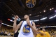 May 16, 2013; Oakland, CA, USA; Golden State Warriors point guard Stephen Curry (30) acknowledges the crowd after game six of the second round of the 2013 NBA Playoffs against the San Antonio Spurs at Oracle Arena. The Spurs defeated the Warriors 94-82.  Mandatory Credit: Kyle Terada-USA TODAY Sports
