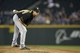 Jun 25, 2013; Seattle, WA, USA; Pittsburgh Pirates pitcher Jeff Locke (49) waits for a pitch call against the Seattle Mariners during the third inning at Safeco Field. Mandatory Credit: Joe Nicholson-USA TODAY Sports