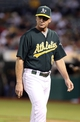 Jun 25, 2013; Oakland, CA, USA; Oakland Athletics manager Bob Melvin (6) returns to the dugout after replacing the pitcher against the Cincinnati Reds during the fifth inning at O.co Coliseum. The Oakland Athletics defeated the Cincinnati Reds 7-3. Mandatory Credit: Kelley L Cox-USA TODAY Sports