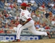 Jun 27, 2013; Washington, DC, USA; Washington Nationals relief pitcher Rafael Soriano (29) throws during the tenth inning against the Arizona Diamondbacks at Nationals Park. Mandatory Credit: Brad Mills-USA TODAY Sports