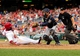 Jul 1, 2013; Washington, DC, USA; Washington Nationals outfielder Denard Span (2) slides into home plate to score a run in the third inning as Milwaukee Brewers catcher Jonathan Lucroy (20) catches the ball at Nationals Park. Mandatory Credit: Evan Habeeb-USA TODAY Sports