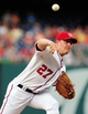 Jul 1, 2013; Washington, DC, USA; Washington Nationals pitcher Jordan Zimmermann (27) throws a pitch during the game against the Milwaukee Brewers at Nationals Park. Mandatory Credit: Evan Habeeb-USA TODAY Sports