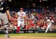Jul 1, 2013; Washington, DC, USA; Washington Nationals pitcher Jordan Zimmermann (11) and outfielder Denard Span (2) score on a double by outfielder Jayson Werth (not pictured) in the third inning against the Milwaukee Brewers at Nationals Park. Mandatory Credit: Evan Habeeb-USA TODAY Sports