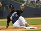 Jun 27, 2013; Milwaukee, WI, USA; Milwaukee Brewers shortstop Jean Segura during the game against the Chicago Cubs at Miller Park. Mandatory Credit: Benny Sieu-USA TODAY Sports