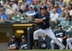 Jun 27, 2013; Milwaukee, WI, USA; Milwaukee Brewers right fielder Norichika Aoki during the game against the Chicago Cubs at Miller Park. Mandatory Credit: Benny Sieu-USA TODAY Sports