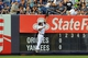 Jul 5, 2013; Bronx, NY, USA; New York Yankees left fielder Vernon Wells (12) cannot catch the ball as Baltimore Orioles catcher Matt Wieters (not pictured) hits a two-run home run during the second inning of a game at Yankee Stadium. Mandatory Credit: Brad Penner-USA TODAY Sports