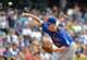 Jul 7, 2013; Milwaukee, WI, USA;  New York Mets pitcher Jeremy Hefner pitches in the 6th inning against the Milwaukee Brewers at Miller Park. Mandatory Credit: Benny Sieu-USA TODAY Sports
