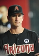 Jul 7, 2013; Phoenix, AZ, USA; Arizona Diamondbacks pitching coach Charles Nagy (50) inside the dugout during the eighth inning during a game against the Colorado Rockies at Chase Field. Mandatory Credit: Jennifer Hilderbrand-USA TODAY Sports