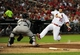 Jul 9, 2013; St. Louis, MO, USA; St. Louis Cardinals third baseman David Freese (23) slides into home and is tagged out by Houston Astros catcher Jason Castro (15) during the fourth inning at Busch Stadium. Mandatory Credit: Jeff Curry-USA TODAY Sports