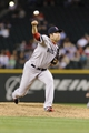 Jul 9, 2013; Seattle, WA, USA; Boston Red Sox relief pitcher Junichi Tazawa (36) pitches to the Seattle Mariners during the 8th inning at Safeco Field. Boston defeated Seattle 11-8. Mandatory Credit: Steven Bisig-USA TODAY Sports