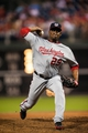 Jul 10, 2013; Philadelphia, PA, USA; Washington Nationals pitcher Rafael Soriano (29) delivers to the plate during the ninth inning against the Philadelphia Phillies at Citizens Bank Park. The Nationals defeated the Phillies 5-1. Mandatory Credit: Howard Smith-USA TODAY Sports