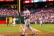 Jul 10, 2013; Philadelphia, PA, USA; Washington Nationals center fielder Bryce Harper (34) reacts to striking out during the fifth inning against the Philadelphia Phillies at Citizens Bank Park. The Nationals defeated the Phillies 5-1. Mandatory Credit: Howard Smith-USA TODAY Sports