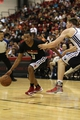 Jul 13, 2013; Las Vegas, NV, USA; Chicago Bulls guard Andrew Goudelock dribbles the ball away from Memphis Grizzlies defender Jack Cooley during the first half of an NBA Summer League game at Cox Pavilion. Mandatory Credit: Stephen R. Sylvanie-USA TODAY Sports