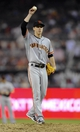 Jul 13, 2013; San Diego, CA, USA; San Francisco Giants starting pitcher Tim Lincecum (55) throws during the eighth inning against the San Diego Padres at Petco Park. Mandatory Credit: Christopher Hanewinckel-USA TODAY Sports