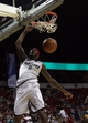 Jul 14, 2013; Las Vegas, NV, USA; Portland Trailblazers guard Will Barton scores on a dunk against the Los Angeles Lakers during an NBA Summer League game at the Thomas and Mack Center. Mandatory Credit: Stephen R. Sylvanie-USA TODAY Sports
