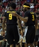 Jul 14, 2013; Las Vegas, NV, USA; Los Angeles Lakers forward Lazar Hayward gives a pat on the back to teammate Laker forward Chris Douglas-Roberts during a stoppage in play between Los Angeles and the Portland Trailblazers NBA Summer League game at the Thomas and Mack. Mandatory Credit: Stephen R. Sylvanie-USA TODAY Sports