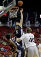 Jul 18, 2013; Las Vegas, NV, USA; Memphis Grizzlies center Jack Cooley attempts to score from inside as Charlotte Bobcats center Cody Zeller defends Memphis forward Laurence Bowers during an NBA Summer League game at the Thomas and Mack Center. Mandatory Credit: Stephen R. Sylvanie-USA TODAY Sports