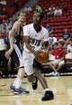 Jul 18, 2013; Las Vegas, NV, USA; Charlotte Bobcats guard Jerome Dyson looks to shoot during an NBA Summer League game at the Thomas and Mack Center. Mandatory Credit: Stephen R. Sylvanie-USA TODAY Sports