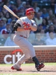 Jul 12, 2013; Chicago, IL, USA; St. Louis Cardinals right fielder Carlos Beltran at bat against the Chicago Cubs during the third inning at Wrigley Field. Mandatory Credit: Jerry Lai-USA TODAY Sports