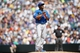 Jul 21, 2013; Denver, CO, USA; Chicago Cubs pitcher Edwin Jackson (36) reacts on the mound during the first inning against the Colorado Rockies at Coors Field.Mandatory Credit: Chris Humphreys-USA TODAY Sports