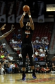 Jul 22, 2013; Las Vegas, NV, USA; Phoenix Suns center Markieff Morris takes an open jump shot against the Golden State Warriors in the NBA Summer League Championship game at the Thomas and Mack Center. Mandatory Credit: Stephen R. Sylvanie-USA TODAY Sports