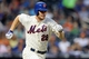 Jul 22, 2013; New York, NY, USA;   New York Mets second baseman Daniel Murphy (28) reached on an infield single to third during the third inning against the Atlanta Braves at Citi Field.  Atlanta Braves won 2-1.  Credit: Anthony Gruppuso-USA TODAY Sports