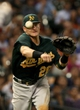 Jul 23, 2013; Houston, TX, USA; Oakland Athletics third baseman Josh Donaldson (20) throws to first base during the fifth inning against the Houston Astros at Minute Maid Park. Mandatory Credit: Troy Taormina-USA TODAY Sports