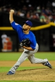 Jul 23, 2013; Phoenix, AZ, USA; Chicago Cubs relief pitcher Hector Rondon (56) throws during the seventh inning against the Arizona Diamondbacks at Chase Field. Mandatory Credit: Matt Kartozian-USA TODAY Sports