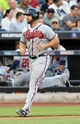 Jul 24, 2013; New York, NY, USA;  Atlanta Braves catcher Evan Gattis (24) rounds the bases after hitting a home run during the second inning against the New York Mets at Citi Field Mandatory Credit: Anthony Gruppuso-USA TODAY Sports
