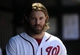 Jul 25, 2013; Washington, DC, USA; Washington Nationals right fielder Jayson Werth (28) in the dugout during the seventh inning against the Pittsburgh Pirates at Nationals Park. Mandatory Credit: Brad Mills-USA TODAY Sports
