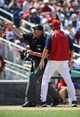 Jul 25, 2013; Washington, DC, USA; Washington Nationals manager Davey Johnson is thrown out of the game by home plate umpire Mike Winters during the fifth inning against the Pittsburgh Pirates at Nationals Park. Mandatory Credit: Brad Mills-USA TODAY Sports