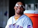 Jul 26, 2013; Washington, DC, USA; New York Mets outfielder Marlon Byrd (6) smiles in the dugout during the game against the Washington Nationals at Nationals Park. Mandatory Credit: Evan Habeeb-USA TODAY Sports
