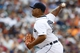 Jul 28, 2013; Detroit, MI, USA; Detroit Tigers relief pitcher Bruce Rondon (43) pitches in the eighth inning against the Philadelphia Phillies at Comerica Park. Detroit won 12-4. Mandatory Credit: Rick Osentoski-USA TODAY Sports