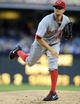 Jul 29, 2013; San Diego, CA, USA; Cincinnati Reds starting pitcher Mike Leake (44) throws during the first inning against the San Diego Padres at Petco Park. . Mandatory Credit: Christopher Hanewinckel-USA TODAY Sports