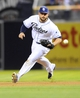 Jul 30, 2013; San Diego, CA, USA; San Diego Padres first baseman Yonder Alonso (23) fields a ground ball during the fourth inning against the Cincinnati Reds at Petco Park. Mandatory Credit: Christopher Hanewinckel-USA TODAY Sports