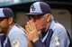 Jul 6, 2013; St. Petersburg, FL, USA; Tampa Bay Rays manager Joe Maddon (70) in the dugout against the Chicago White Sox at Tropicana Field. Tampa Bay Rays defeated the Chicago White Sox 3-0. Mandatory Credit: Kim Klement-USA TODAY Sports