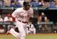 Jul 6, 2013; St. Petersburg, FL, USA; Chicago White Sox center fielder Alejandro De Aza (30) runs against the Tampa Bay Rays at Tropicana Field. Mandatory Credit: Kim Klement-USA TODAY Sports