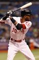 Jul 6, 2013; St. Petersburg, FL, USA; Chicago White Sox shortstop Alexei Ramirez (10) at bat against the Tampa Bay Rays at Tropicana Field. Mandatory Credit: Kim Klement-USA TODAY Sports