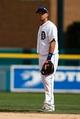 Jul 28, 2013; Detroit, MI, USA; Detroit Tigers shortstop Hernan Perez (26) in the field against the Philadelphia Phillies at Comerica Park. Mandatory Credit: Rick Osentoski-USA TODAY Sports