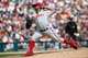 Jul 28, 2013; Detroit, MI, USA; Philadelphia Phillies relief pitcher Antonio Bastardo (59) pitches in the seventh inning against the Detroit Tigers at Comerica Park. Mandatory Credit: Rick Osentoski-USA TODAY Sports