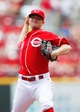 Aug 4, 2013; Cincinnati, OH, USA; Cincinnati Reds starting pitcher Mike Leake (44) pitches during the first inning against the St. Louis Cardinals at Great American Ball Park. Mandatory Credit: Frank Victores-USA TODAY Sports