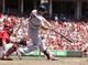 Aug 4, 2013; Cincinnati, OH, USA; St. Louis Cardinals left fielder Matt Holliday (7) bats during the third inning against the Cincinnati Reds at Great American Ball Park. Mandatory Credit: Frank Victores-USA TODAY Sports