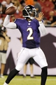 Aug 8, 2013; Tampa, FL, USA; Baltimore Ravens quarterback Tyrod Taylor (2) throws the ball during the second half against the Tampa Bay Buccaneers at Raymond James Stadium. Baltimore Ravens defeated the Tampa Bay Buccaneers 44-16. Mandatory Credit: Kim Klement-USA TODAY Sports