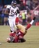 Aug 8, 2013; San Francisco, CA, USA; San Francisco 49ers wide receiver Chuck Jacobs (1) catches a pass against the Denver Broncos during the third quarter at Candlestick Park. Mandatory Credit: Ed Szczepanski-USA TODAY Sports