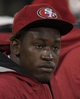 Aug 8, 2013; San Francisco, CA, USA; San Francisco 49ers linebacker Aldon Smith (99) looks on from the bench during the third quarter of the game against the Denver Broncos at Candlestick Park. The Denver Broncos defeated the San Francisco 49ers 10-6. Mandatory Credit: Ed Szczepanski-USA TODAY Sports